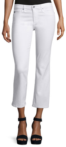 AG Jeans AG Adriano Goldschmied The Jodi Slim Flare Cropped Jeans, White