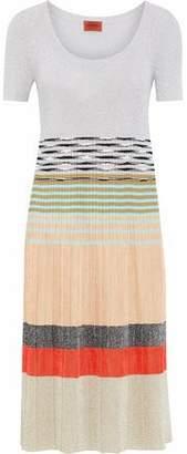 Missoni Color-Block Metallic Crochet-Knit Dress