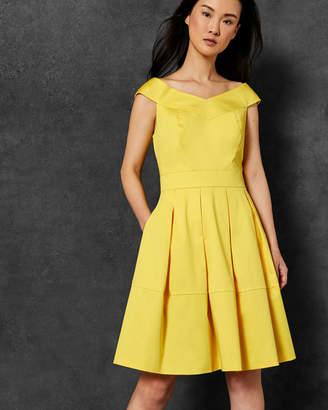 Ted Baker JULLEE Cotton off the shoulder dress