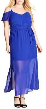 City Chic Plus Off-The-Shoulder Short Sleeve Dress