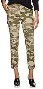 ATM Anthony Thomas Melillo Women's Camouflage Cotton Slim Cargo Pants - Green