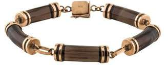 14K Smoky Quartz Bracelet