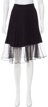Rag & Bone Pleated Knee-Length Skirt