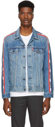 Levi's Levis Blue Sportswear Trucker Denim Jacket