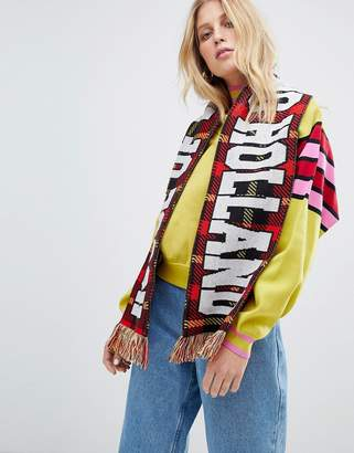 House of Holland Unisex checked football scarf