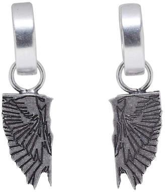 Marcelo Burlon County of Milan Silver Wings Earrings