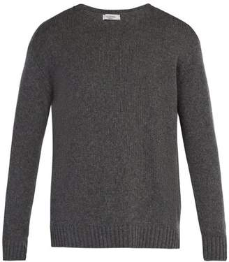 Valentino Cashmere Crew Neck Sweater - Mens - Grey