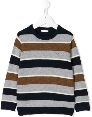 Sun 68 striped knitted jumper