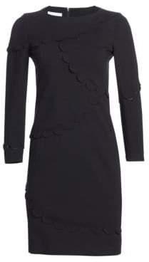 Akris Punto Scallop Trim Shift Dress