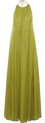 Valentino Layered Silk-Chiffon Halterneck Gown