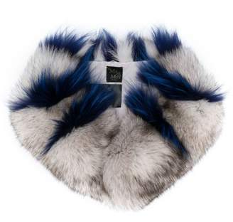 Mr & Mrs Italy striped fur scarf