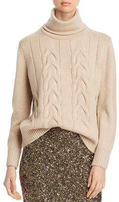 Lafayette 148 New York Cashmere Cable-Knit Turtleneck Sweater