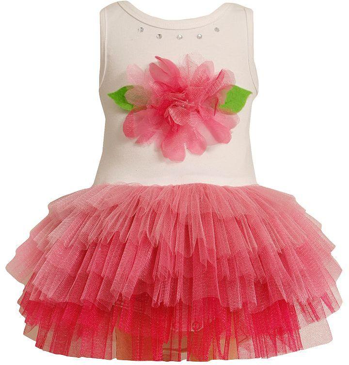 Bonnie Jean floral tutu dress - toddler