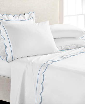 Martha Stewart Collection Signature Scallop 4-Pc. Full Sheet Set, 400 Thread Count 100% Cotton Percale