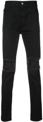 Christian Dada ripped effect jeans