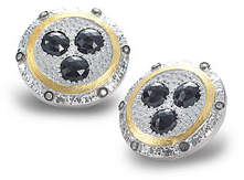 Coomi Opera Spinel & Diamond Button Earrings