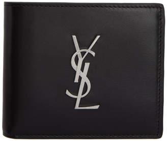 Saint Laurent Black East/West Monogramme Wallet
