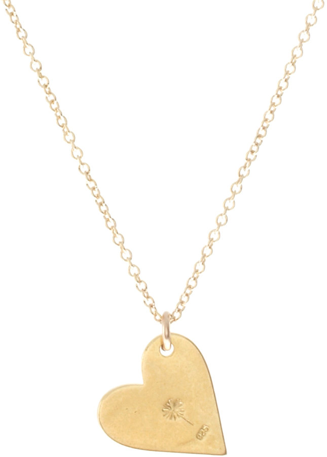 Dogeared Gold Dipped Love Sideways Heart Pendant Necklace