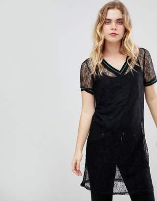 Ichi Lace Sheer Dress