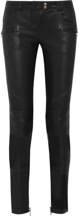 Balmain Stretch-leather skinny pants