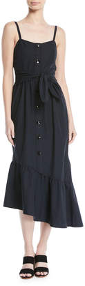 Derek Lam 10 Crosby Asymmetric Button-Front Cami Dress