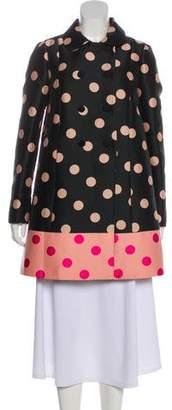 RED Valentino Polka Dot Knee-Length Coat