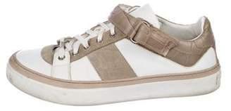 Jimmy Choo Leather Low-Top Sneakers