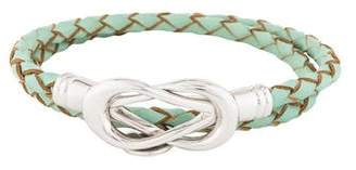 Bottega Veneta Infinity Leather Double Wrap Bracelet