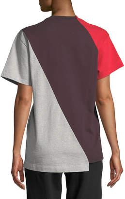 Vetements Crewneck Short-Sleeve Colorblocked Cotton Tee