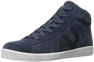 Armani Jeans Men's Suede High Top Fashion Sneaker