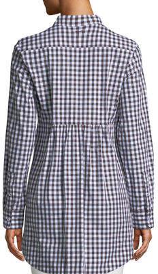 Tyler Boe Sherri Gingham Button-Front Tunic