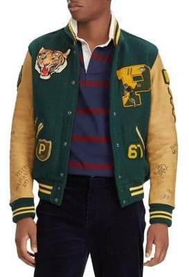 Polo Ralph Lauren Wool-Blend Letterman Jacket