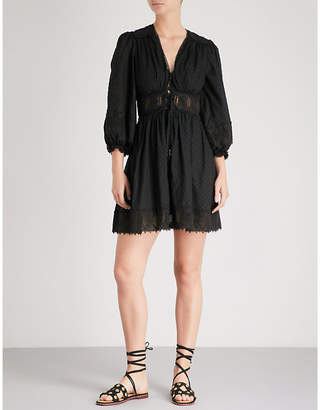 Zimmermann Iris corset-waist cotton mini dress