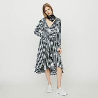 Maje Midi shirt dress in gingham print