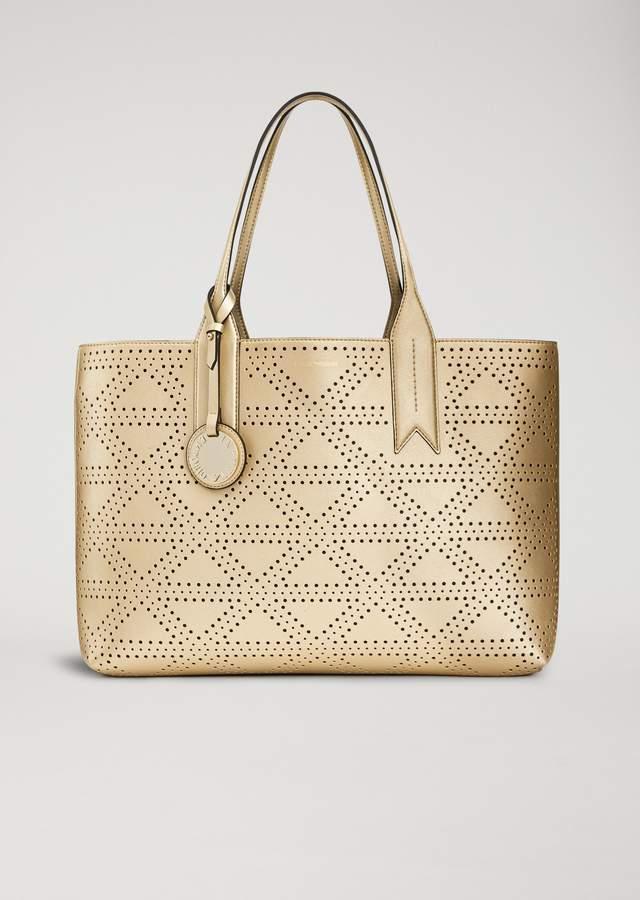 EMPORIO ARMANI faux leather tote bag with pendant