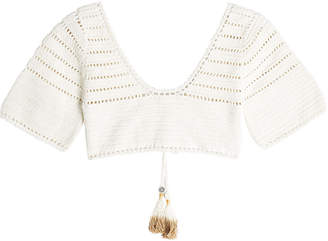 She Made Me Crochet Cotton Crop Top