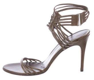 Gucci Leather Caged Sandals