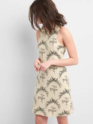 Gap Sleeveless Fit and Flare Dress in Linen