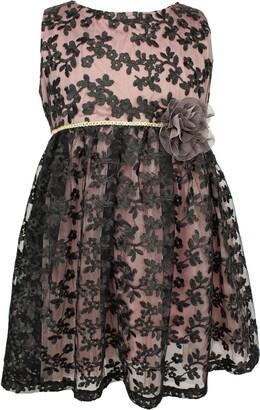 Popatu Black Lace Fit & Flare Dress