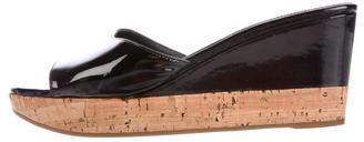 pradaPrada Patent Leather Slide Sandals