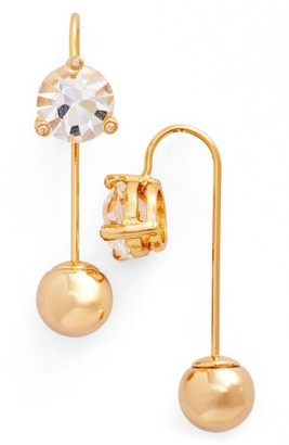 Women's Kate Spade New York Hanger Crystal Threader Earrings $48 thestylecure.com