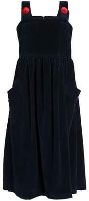 House of Holland Cotton-Corduroy Midi Dress
