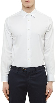 Ted Baker Stretch Regular Fit Button-Down Shirt $165 thestylecure.com
