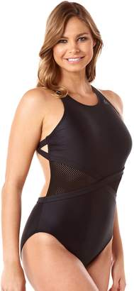 Reebok Women's Its a Wrap Mesh One-Piece Swimsuit