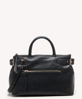 Sole Society Women's Dael Satchel Vegan Leather In Color: Black Bag From