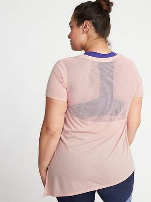 Old Navy Mesh-Back Side-Tie Plus-Size Performance Tee