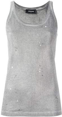 DSQUARED2 microstudded tank top