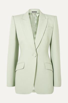 Alexander McQueen Wool-blend Crepe Blazer