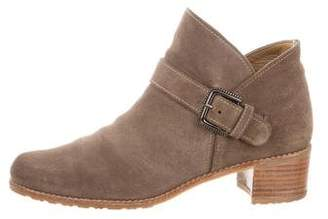 Stuart Weitzman Dude Suede Ankle Boots