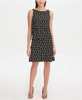 Tommy Hilfiger Floral Jersey Tier A-line Dress
